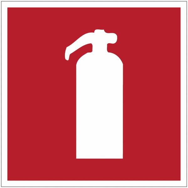 Marquage au sol d'incendie Extincteur d'incendie