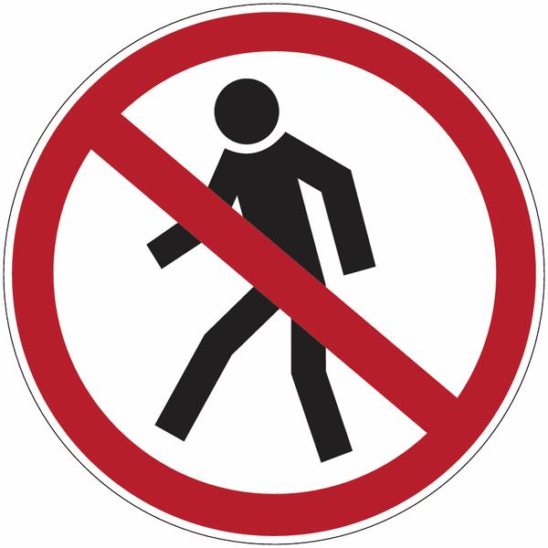 Marquage au sol d'interdiction Interdit aux piétons