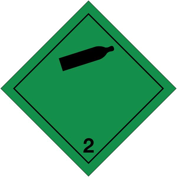 Etiquettes de transport international Gaz non-inflammables non-toxiques à compléter