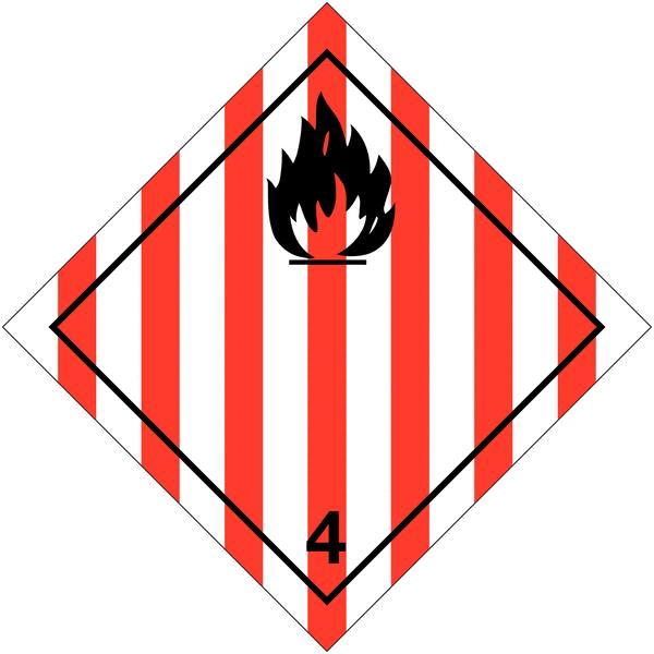 Etiquettes de transport international Solide inflammable à compléter