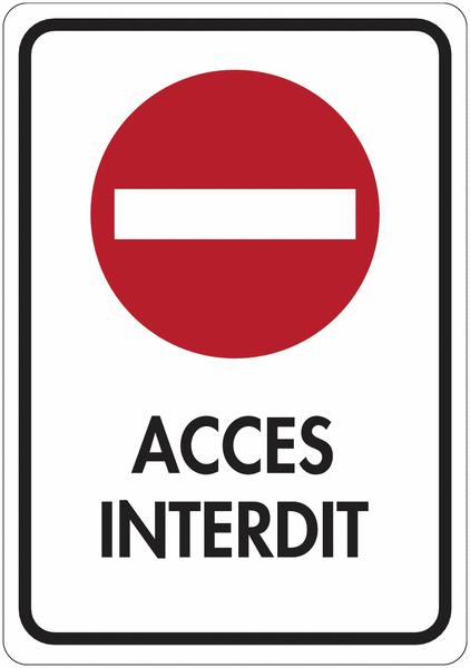 Panneau de signalisation réfléchissant Sens interdit - Accès interdit