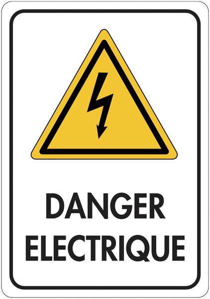 Panneau de signalisation réfléchissant - Danger électrique
