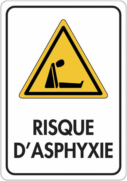Panneau de signalisation réfléchissant Danger - Risque d'asphyxie