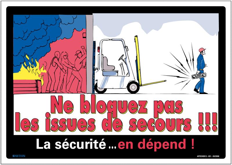 Affichage obligatoire sur les issues de secours