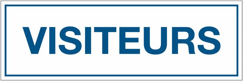 Panneau de signalisation en polypropylène - Visiteurs