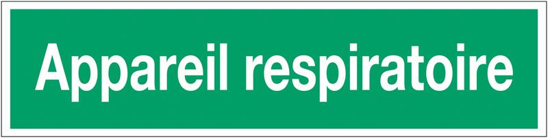 Panneau adhésif d'évacuation - Appareil respiratoire