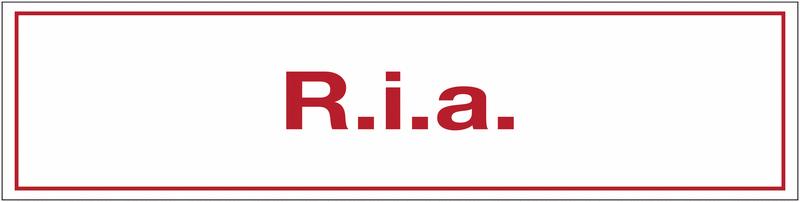 Autocollant de sécurité incendie - R.I.A.