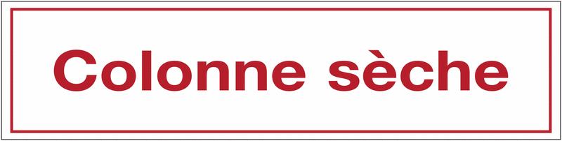 Autocollant de sécurité incendie - Colonne sèche