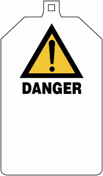 Plaquette de sécurité Danger général - Défense d'enclencher à compléter - Seton