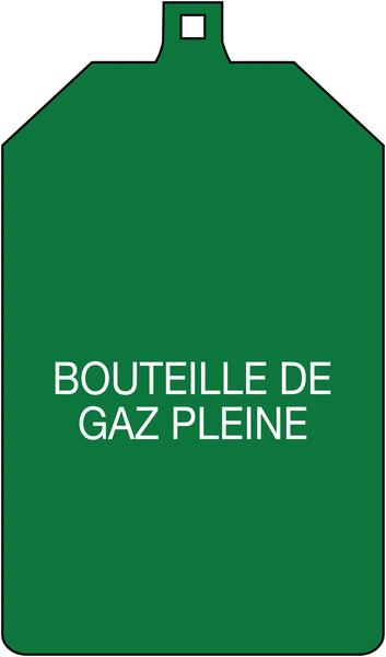 Plaquette de sécurité à compléter - Bouteille de gaz pleine