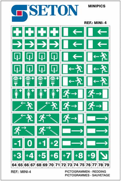Panaché de mini autocollants de signalisation