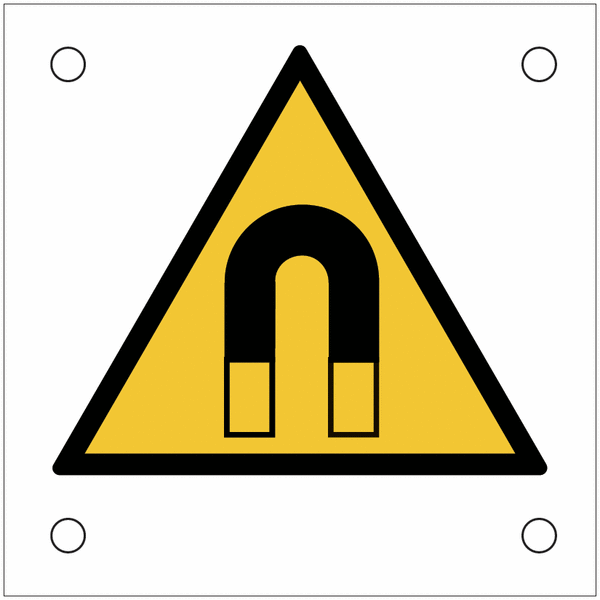 Plaques de signalisation pour machines Champ magnétique important - NF