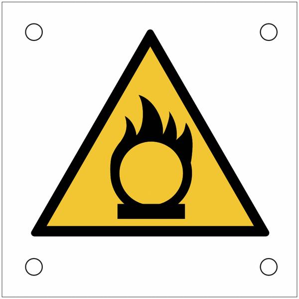Plaques de signalisation pour machines Danger substances comburantes