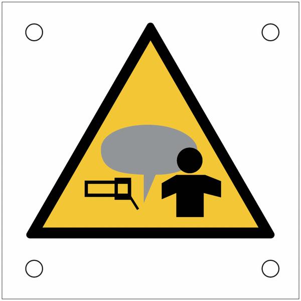 Plaques de signalisation pour machines Attention à vos mains, fumée soudure