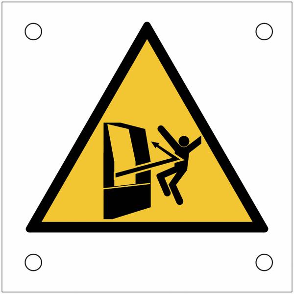Plaques de signalisation pour machines Danger, projection d'objets