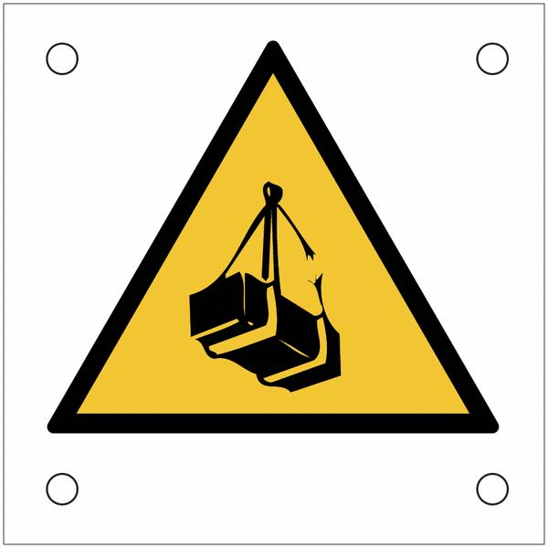 Plaques de signalisation pour machines Danger charges suspendues