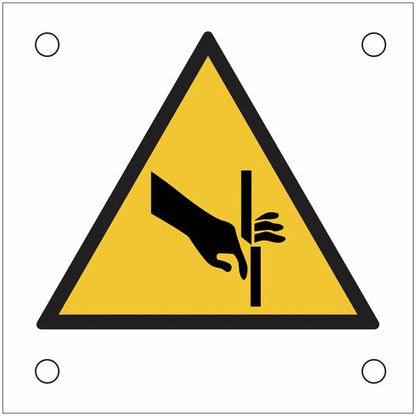 Plaques de signalisation pour machines Risque de coupure , cisaillement