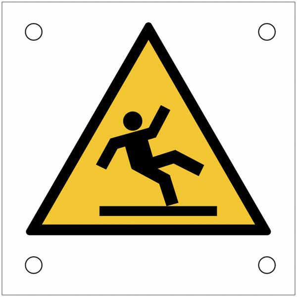 Plaques de signalisation pour machines Danger, surface glissante