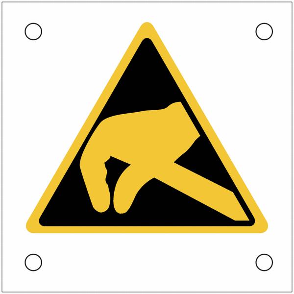 Plaques de signalisation pour machines Danger électrostatique