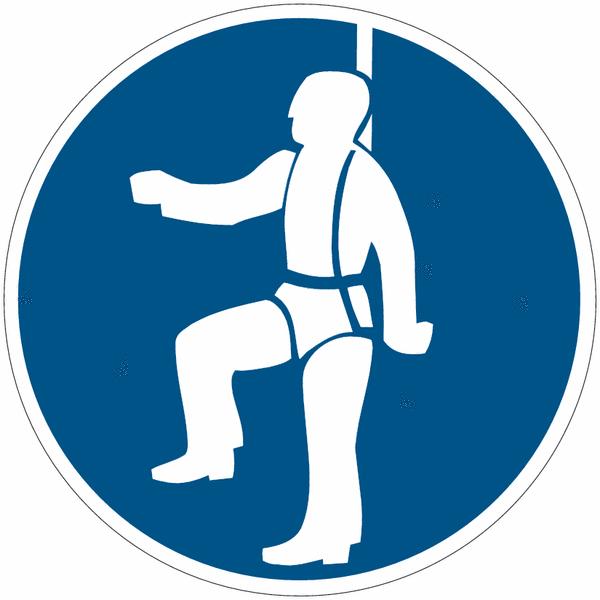Panneau en polycarbonate Harnais de sécurité obligatoire