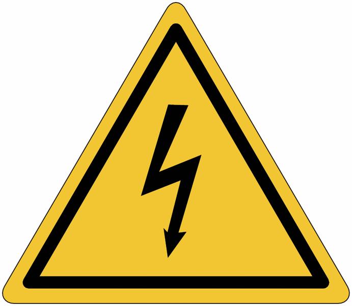 Panneau en polycarbonate Danger électricité