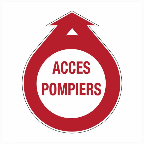 Signalisation adhésive Baies accessibles pour pompiers - Accès pompiers