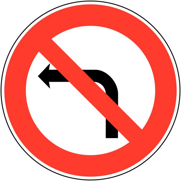 Panneau clignotant à énergie solaire Interdiction de tourner à gauche à la prochaine intersection