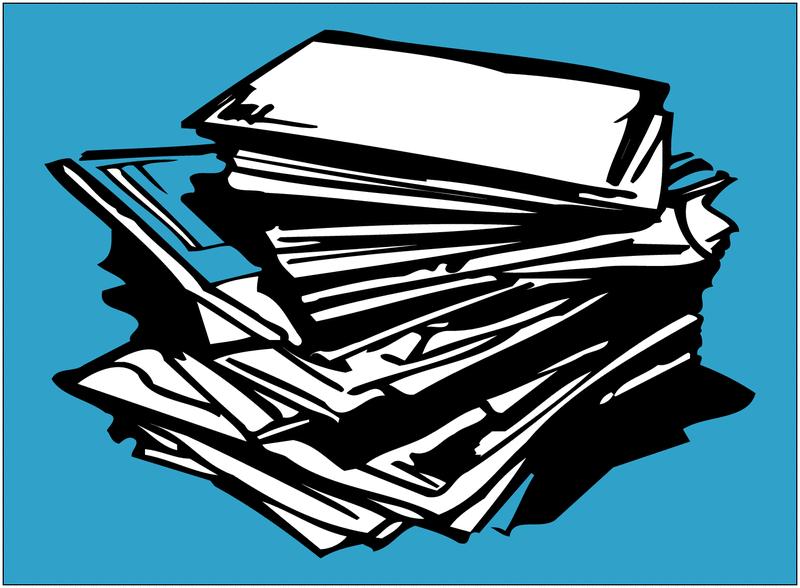 Autocollant Tri sélectif des déchets pour papier