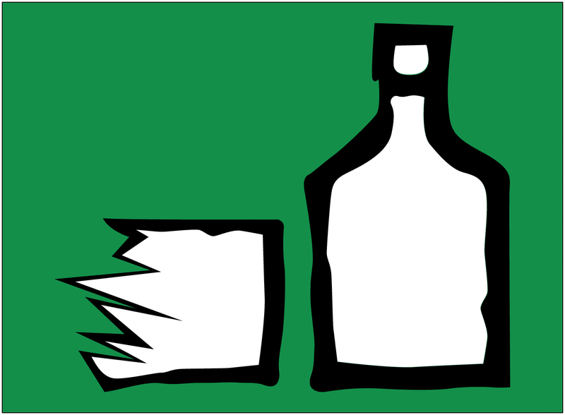 Autocollant Tri sélectif des déchets pour verre