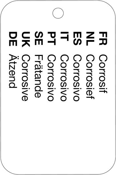 Porte-clé pédagogique sur les 9 symboles de produits dangereux - Seton