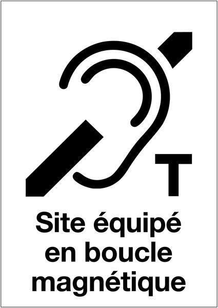 Panneau d'accueil adhésif - Site équipé en boucle magnétique