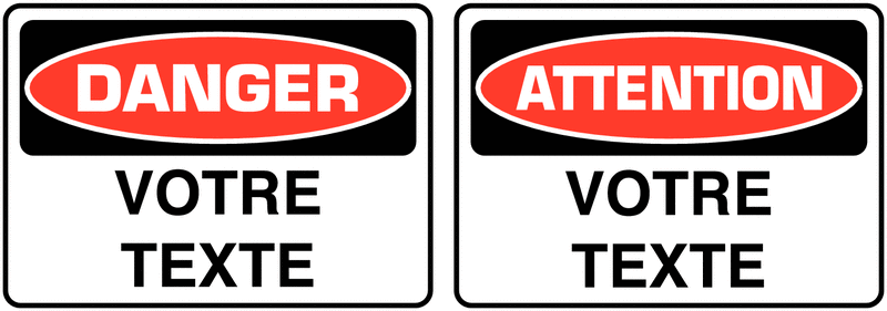 Signalisation d'avertissement personnalisée