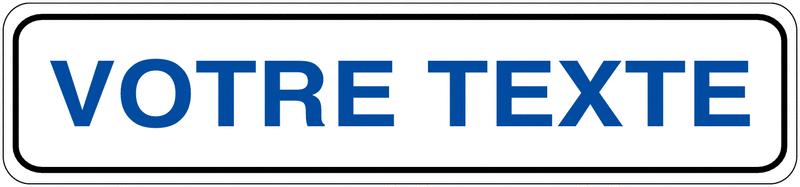 Plaque personnalisable pour butée de parking en PVC