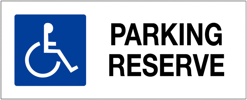 Panneau de parking Ascenseur accessible aux fauteuils roulants