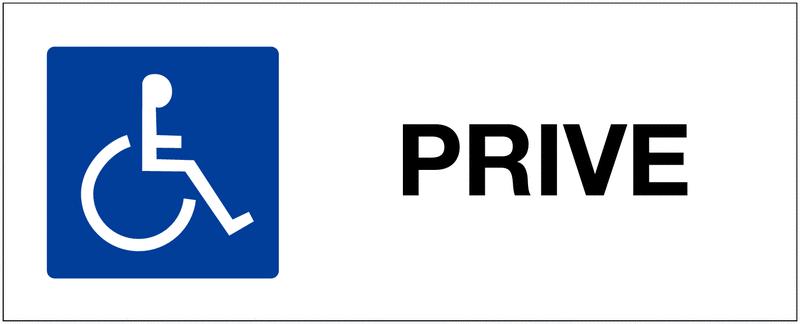 Panneau de parking Handicapés - Privé