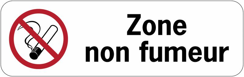 Panneau adhésif en PVC - Zone non fumeurs