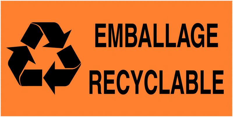 Etiquettes d'expédition fluorescentes Tri sélectif des déchets - Emballage recyclable