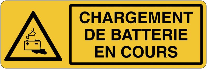 Panneau de charge de batterie - Chargement de batterie en cours