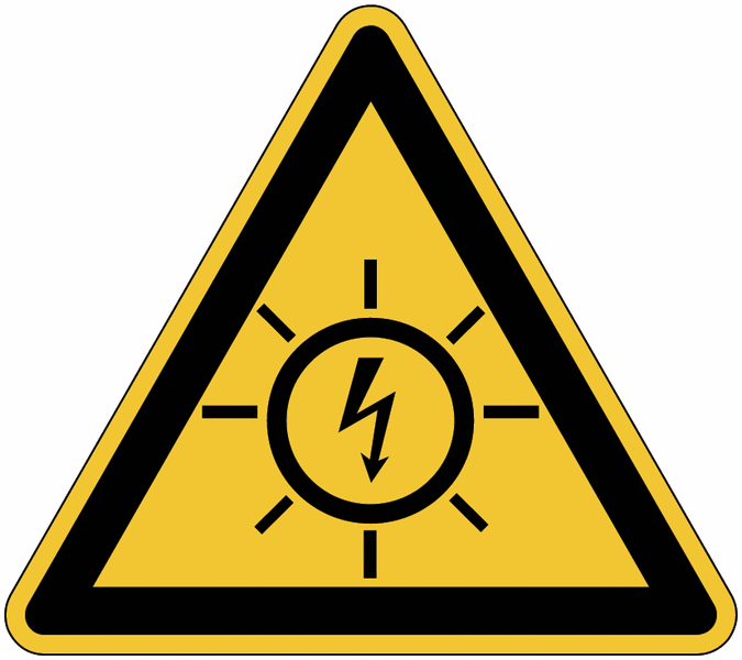 Etiquettes de danger Risque photovoltaïque