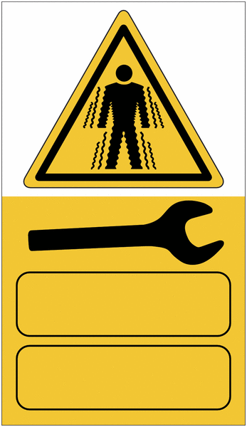 Etiquettes adhésives de maintenance Risque vibratoire pour le corps