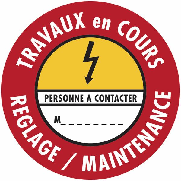 Etiquettes de condamnation adhésives Fix-Max™ Danger électricité - Réglage maintenance
