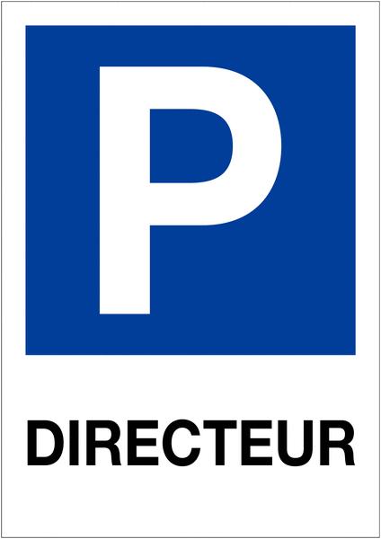 Etiquette pour balise Places de parking - Directeur