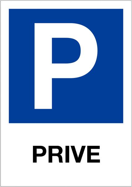 Etiquette pour balise Places de parking - Privé