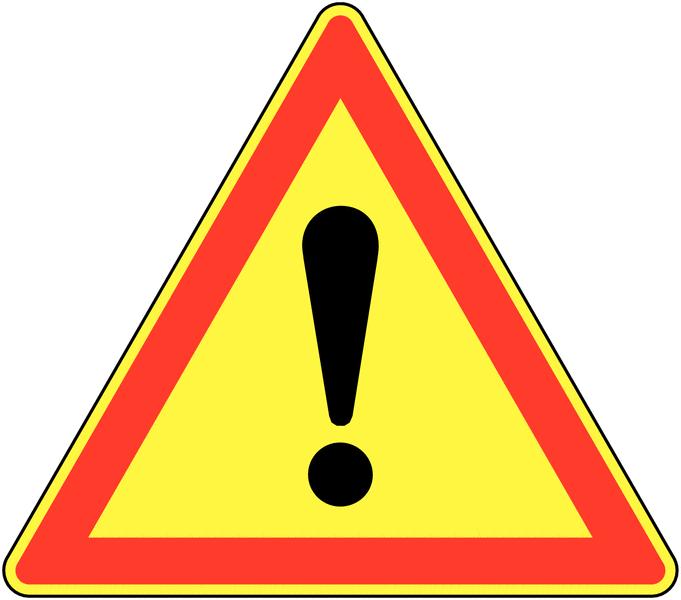 Panneau de signalisation temporaire pour cône Danger général