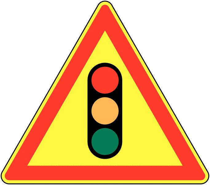 Panneau de signalisation temporaire pour cône Feu tricolore