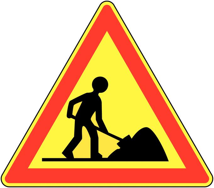 Panneau de signalisation temporaire pour cône Travaux