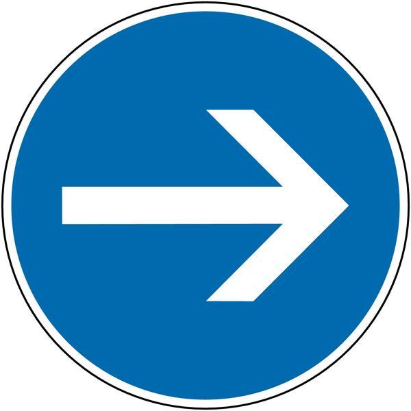 Panneau de signalisation temporaire pour cône Flèche directionnelle orientable