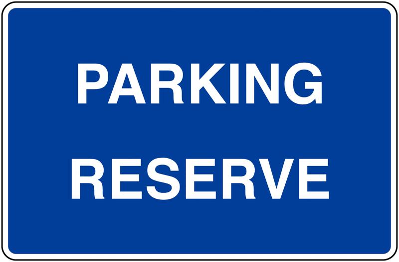 Panneaux d'information de parking - Parking Réservé