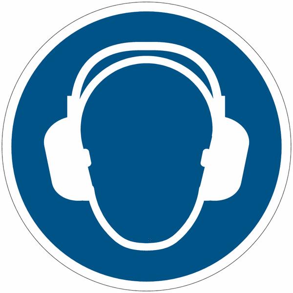 Crochet porte-EPI avec pictogramme Protection auditive obligatoire - Seton