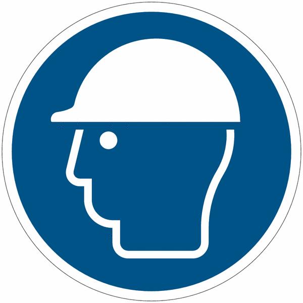 Crochet porte-EPI avec pictogramme Casque de protection obligatoire - Seton